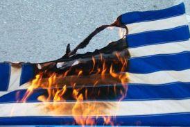 Άγνωστοι έκαψαν ελληνική σημαία σε νηπιαγωγείο του Αγρινίου