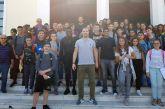 Παίκτες του Παναιτωλικού στο 1ο Γυμνάσιο Αγίου Κωνσταντίνου σε εκδήλωση για τη Βία και τον Ρατσισμό