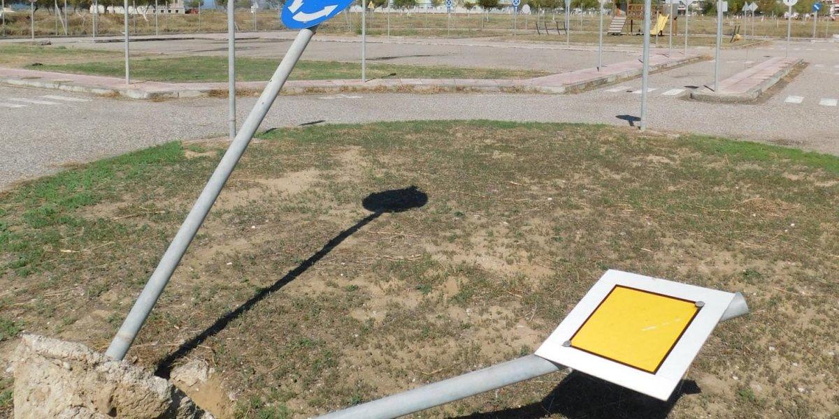 Βανδαλισμός στο Πάρκο Κυκλοφοριακής Αγωγής στο Μεσολόγγι (φωτο)