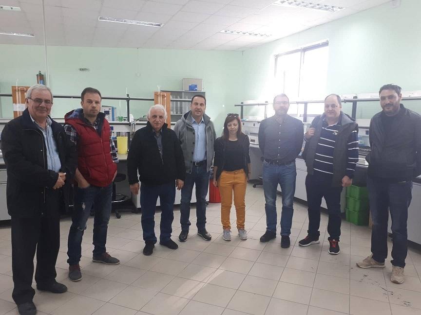 Το Εδαφολογικό Εργαστήριο στη διάθεση όλων των αγροτών και των Ομάδων Παραγωγών της Περιφέρειας