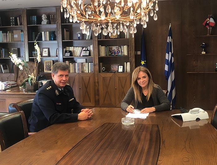 Η Σταρακά συναντήθηκε με το νέο Αστυνομικό Διευθυντή Αιτωλίας