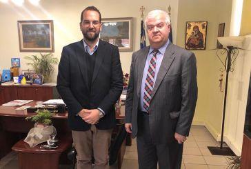 Με τους Δημάρχους Ερυμάνθου και Δυτικής Αχαΐας συναντήθηκε ο Νεκτάριος Φαρμάκης