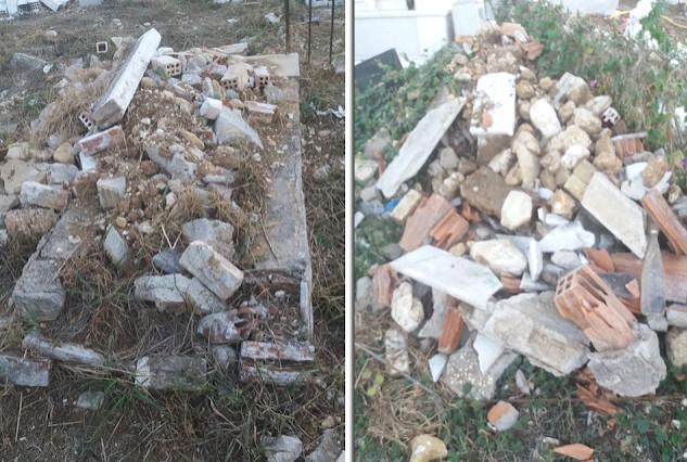 Καταγγέλλουν τραγική κατάσταση στο παλιό κοιμητήριο στο Μοναστηράκι Βόνιτσας (φωτο)