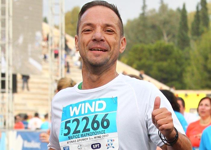 Στον 36ο Αυθεντικό Μαραθώνιο της Αθήνας ο Αγρινιώτης αιμοκαθαιρόμενος αθλητής Μάριος Μαρκόπουλος