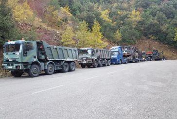 Η ΜΟΜΚΑ στο Ορεινό Θέρμο για έργα στο δρόμο Πέρκο -Περίστα
