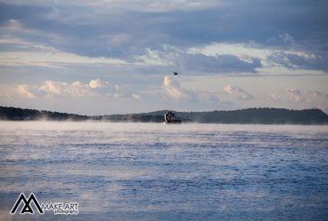 Eντυπωσιακό «sea smoke» στον Αστακό (φωτό)