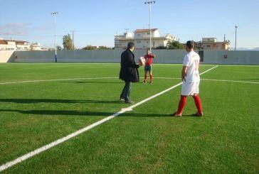 Πρώτος αγώνας στο ανακαινισμένο γήπεδο του Αγίου Κωνσταντίνου Αγρινίου (φωτό)