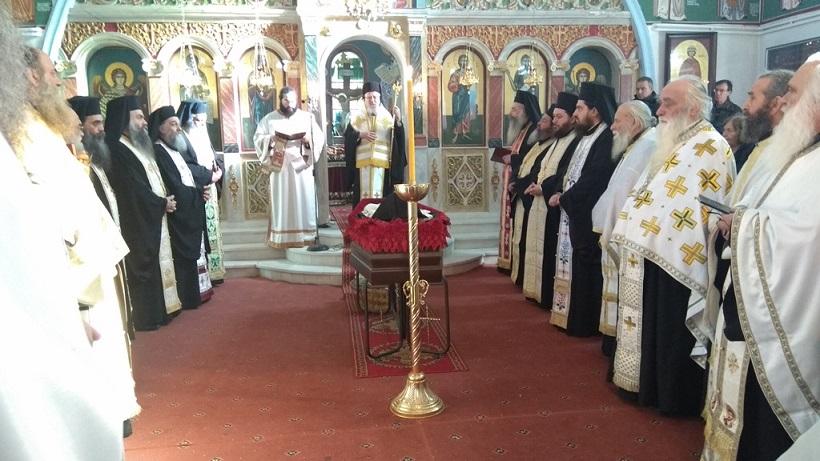 Συγκίνηση στην εξόδιο ακολουθία του Καθηγουμένου Ι. Μονής Παναγίας Ελεούσης Αρχιμανδρίτου Ιεροθέου Σπανομήτσου