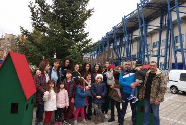 Στόλισαν το χριστουγεννιάτικο δέντρο έξω από το γήπεδο του Παναιτωλικού (φωτο)