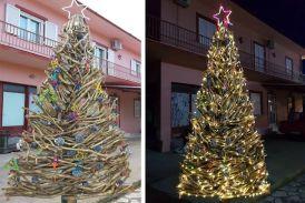 Πρωτότυπο οικολογικό χριστουγεννιάτικο δέντρο στον Βάρνακα Ξηρομέρου