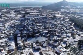 Βίντεο: πάνω από το χιονισμένο Ξηρόμερο