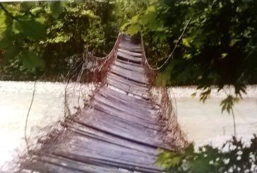Η παλαιά κρεμαστή Γέφυρα στον Άγιο Νικόλαο Αγρινίου