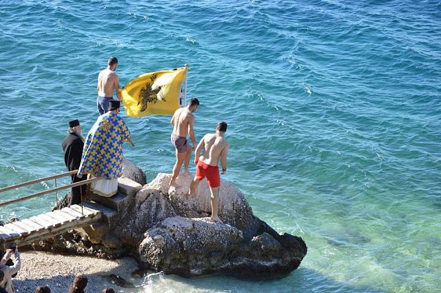 """Κανδήλα: Ο Αγιασμός των Υδάτων στην παραλία """"Ελιά"""""""