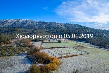 Από ψηλά το χιονισμένο τοπίο γύρω από το Αγρίνιο  (βίντεο)