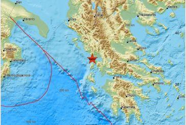 Δυνατός σεισμός κούνησε την Αιτωλοακαρνανία-Κοντά στην Πρέβεζα το επίκεντρο