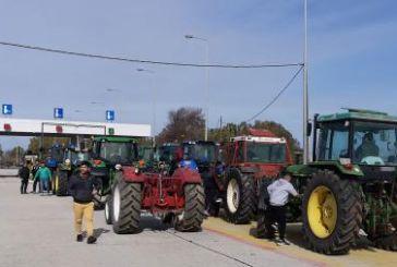 H κινητοποίηση αγροτών και κτηνοτρόφων στα διόδια του Ακτίου (video)