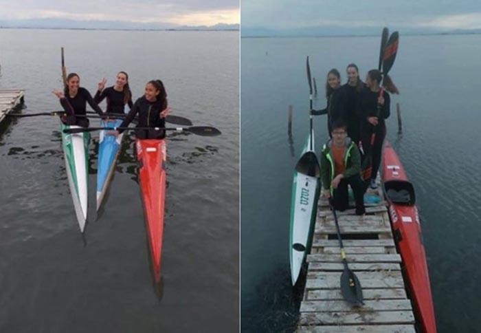 Αθλητές του Ναυτικού Ομίλου Μεσολογγίου στις προκρίσεις για την Εθνική Ομάδα κάνοε καγιάκ
