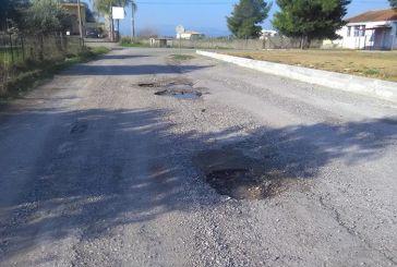 Αγρίνιο: στο Γιαννούζι υπάρχει δρόμος με… κρατήρες