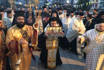 Με τιμές υποδοχή του Ιερού Λειψάνου του Αγίου Διονυσίου στο Αγρίνιο (φωτο)