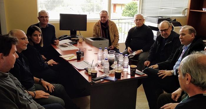 Συνάντηση εργασίας για την εξέλιξη εργασιών για το κτηματολόγιο στη Ναύπακτο