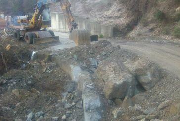 Εργασίες στον δρόμο από το Χάνι Λιόλιου προς τον Άγιο Δημήτριο στην Ορεινή Ναυπακτία