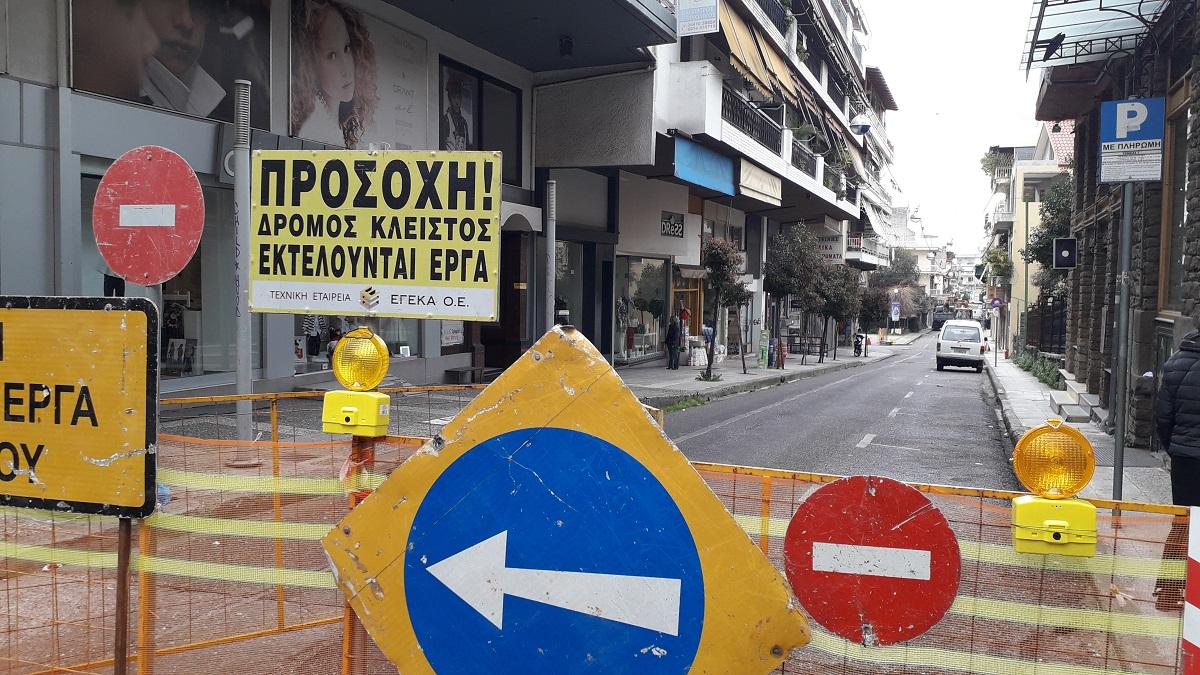 Αγρίνιο: Διακοπή κυκλοφορίας οχημάτων στη συμβολή των οδών Γρίβα και Μακρή