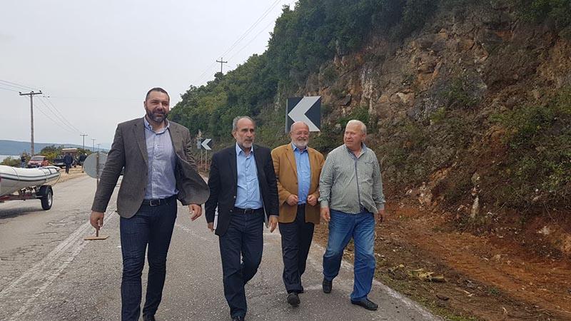 Επίσκεψη Κατσιφάρα σε έργα στην Ε.Ο. Βόνιτσας – Λευκάδας και στο επαρχιακό οδικό δίκτυο Ναυπάκτου