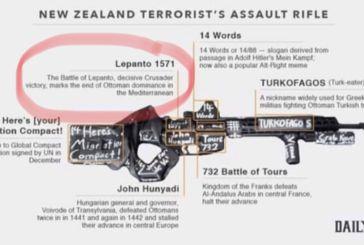 Νέα Ζηλανδία: Αναφορά στη Ναυμαχία της Ναυπάκτου στο όπλο του μακελάρη