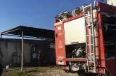 Καταστροφική πυρκαγιά σε μηχανοστάσιο υδροπονικής καλλιέργειας στον Δρυμό Βόνιτσας (φωτο)