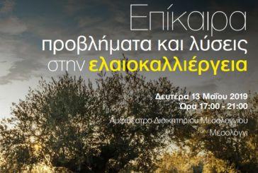 Ημερίδα στο Μεσολόγγι για τα επίκαιρα προβλήματα και τις λύσεις στην ελαιοκαλλιέργεια