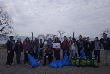«Let's do it Greece»: Εθελοντικός καθαρισμός στην Παραβόλα από μαθητές λυκείου (φωτο)