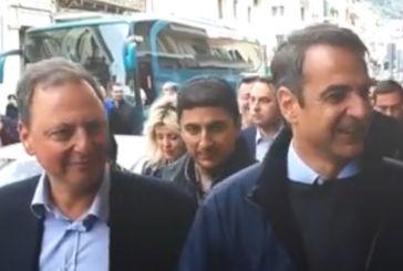 Μαζί με τον Κυριάκο Μητσοτάκη στη Ναύπακτο ο Σπήλιος Λιβανός (βίντεο)