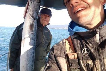 Ψάρεψαν τεράστιο λούτσο ανοιχτά της Βόνιτσας  (φωτο)