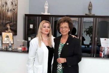 H Λυδία Μουζάκα-Ιωαννίδου στην Ιατρική Φροντίδα Υγείας Αγρινίου και την «Ηλιαχτίδα» (φωτο)