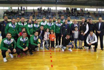 Η διοίκηση του μπασκετικού ΑΟ Αγρινίου βράβευσε το ποδοσφαιρικό τμήμα για την άνοδο (φωτο)