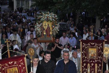 Πανηγυρίζει ο Ι.Ν. Αγίου Κωνσταντίνου Αγρινίου- λιτανεία στις Παπαδάτες Μακρυνείας (φωτο)