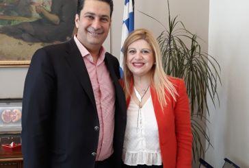Με την συμπατριώτισσα μας υποψήφια ευρωβουλευτή Τόνια Αράχωβα συναντήθηκε ο δήμαρχος Αγρινίου