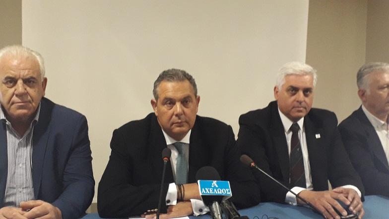 Καμμένος από Αγρίνιο: «Διακόπτουμε ακόμη και την προεκλογική μας εκστρατεία για κοινό μέτωπο απέναντι στις προκλήσεις της Τουρκίας»