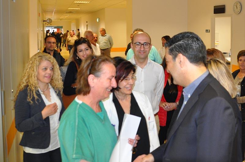 Ο Γιώργος Παπαναστασίου επισκέφθηκε το Νοσοκομείο Αγρινίου