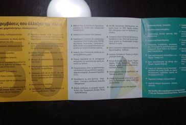 Φυλλάδια με το πρόγραμμα Κατσιφάρα για την Ηλεία διανεμήθηκαν στο…Μεσολόγγι