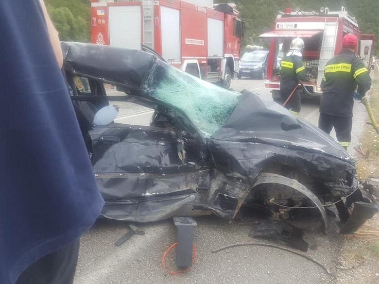 Νεκρή γυναίκα και τρεις τραυματίες σε δυστύχημα στην εθνική οδό Ναυπάκτου – Ιτέας (φωτο)