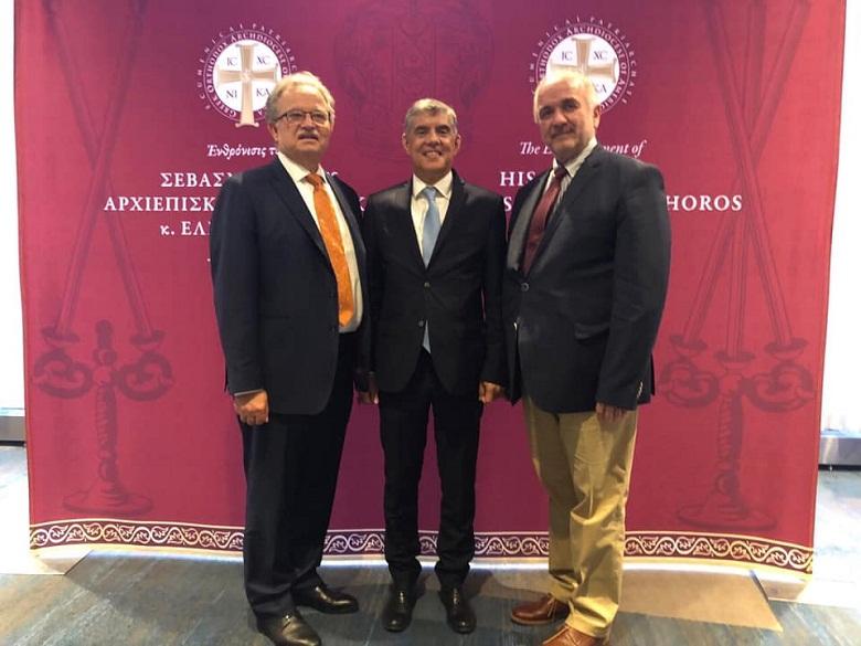 Στην τελετή ενθρόνισης του νέου Αρχιεπισκόπου Αμερικής Ελπιδοφόρου ο Κώστας Λύρος (φωτο)