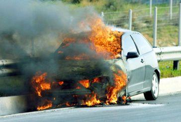 Άλλη μια φωτιά σε εν κινήσει όχημα  στην Ιόνια Οδό