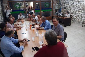 Συνάντηση Σπήλιου Λιβανού με την Ομοσπονδία επαγγελματοβιοτεχνών Ναυπακτίας και Δωρίδας