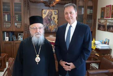 Σε εγκάρδιο κλίμα η συνάντηση Σπήλιου Λιβανού με τον Μητροπολίτη Αιτωλίας και Ακαρνανίας κ.κ. Κοσμά