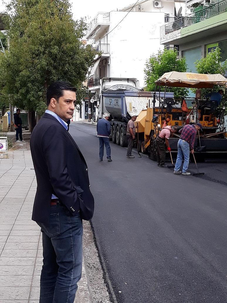 Αγρίνιο: έργα ασφαλτόστρωσης στην οδό Βαρνακιώτη
