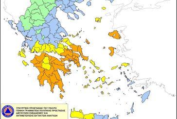 Πολύ υψηλός κίνδυνος πυρκαγιάς τη Δευτέρα στη Δυτική Ελλάδα