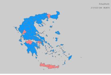 Tελικό Επικράτειας: ΝΔ 39,85%-ΣΥΡΙΖΑ 31,53%