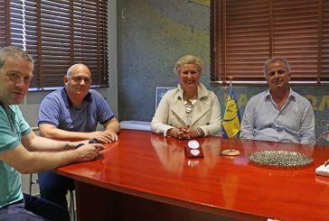 Συναντήθηκε με τη διοίκηση του Παναιτωλικού η Μαρία Καλπουζάνη