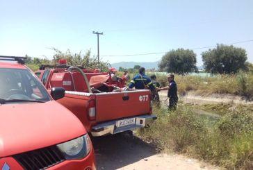 Nεκρός οδηγός οχήματος που έπεσε σε αρδευτικό αύλακα κοντά στα Όχθια